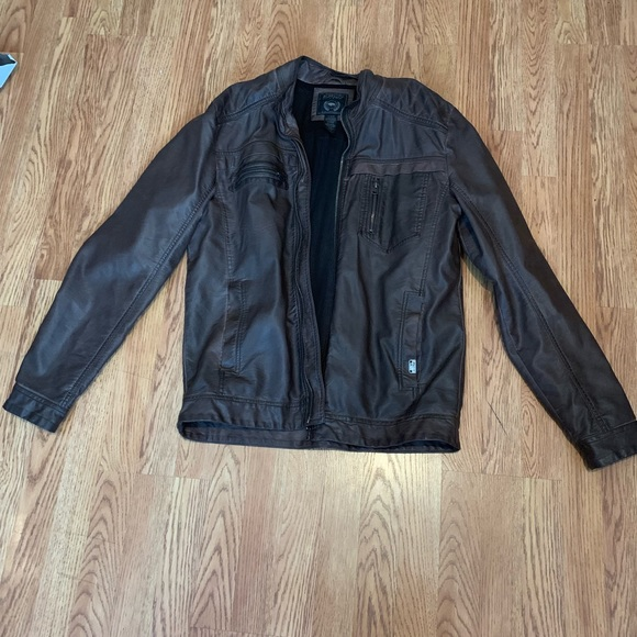 Buffalo David Bitton Other - Faux Brown Leather Jacket